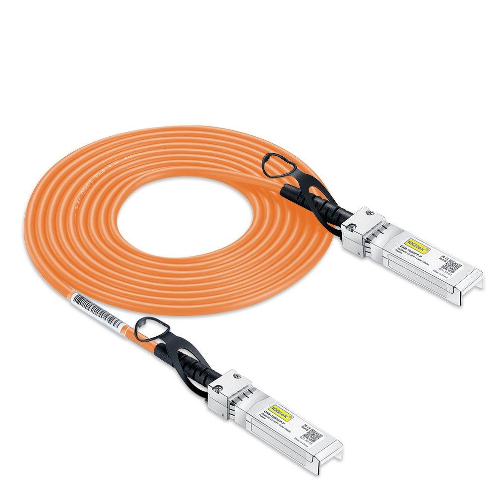 10Gtek Fully Compatible Version,10G SFP+ DAC Cable - 10GBASE-CU Passive Direct Attach Copper Twinax SFP Cable Cisco SFP-H10GB-CU5M, Ubiquiti, D-Link, Supermicro, Netgear, Mikrotik, ZTE Devices, 5m