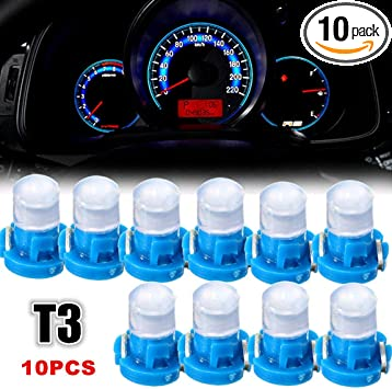 10x T3 Blue Neo Wedge SMD LED Light Instrument Cluster Panel Lamps Gauge Bulbs