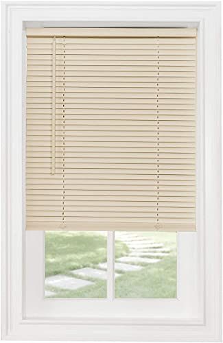 Classic Touch Cordless 1 Light Filtering Mini Blind, 20 Wide x 64 Long, Alabaster
