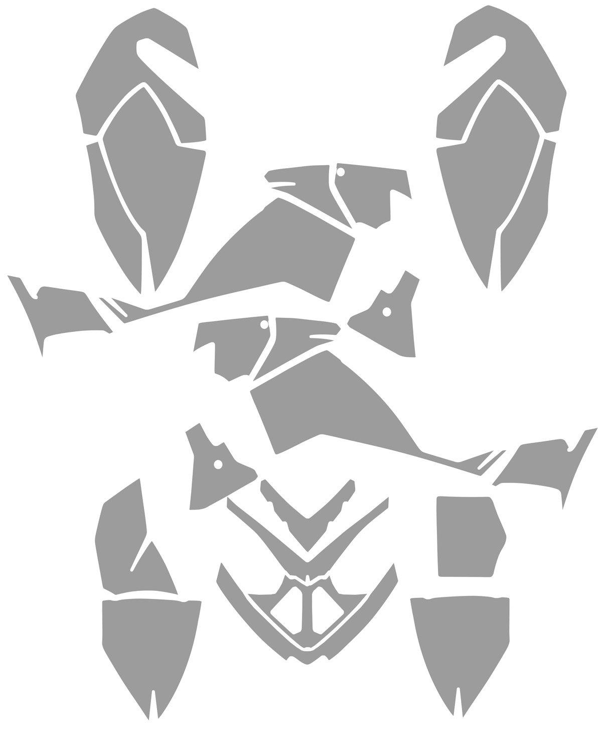 Polaris Outlaw 500 Graphics Kit - Head Creeps - Black Design by Invision Artworks (Image #3)