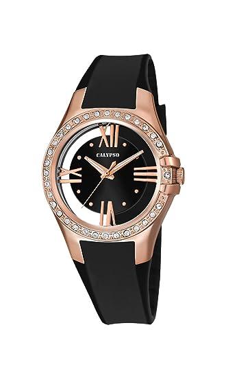 Reloj de Pulsera de Cuarzo K5680/4 de Calypso, con Esfera analógica Negra y