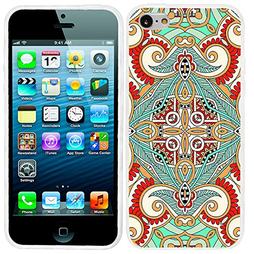 Silicone Soft TPU Floral Pattern Case for iPhone 5C (Green) - 8