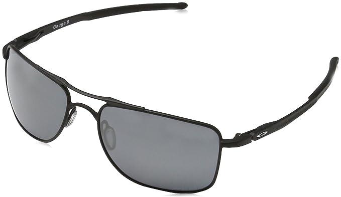 Oakley Gauge Sonnenbrille Mattschwarz OO4124-02 57mm EA2BM