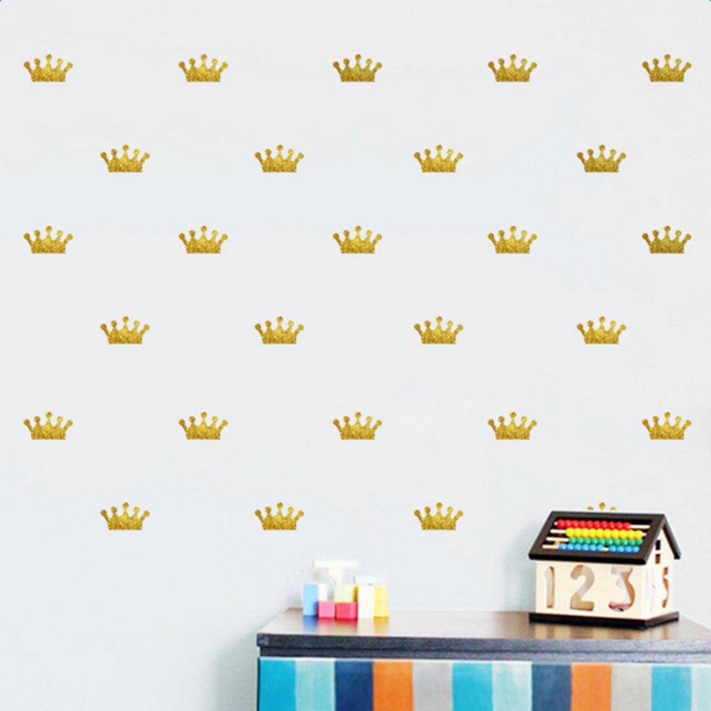 Gazechimp Goldene K/önigin Krone Wandaufkleber abnehmbare Vinyl Aufkleber Kinder Zimmer Dekor diy