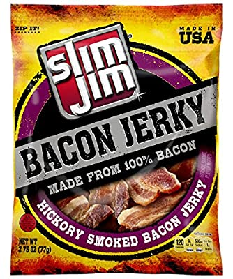 Slim Jim Bacon Jerky, Hickory Smoked, 2.75 Ounce by Slim Jim