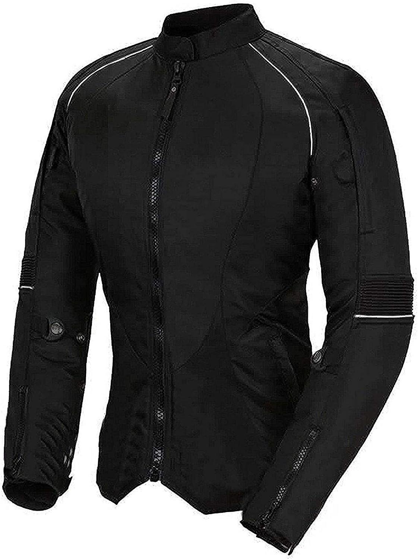 Newfacelook Pour Femme Moto Veste Codura Dames Imperm/éable Bike Protection