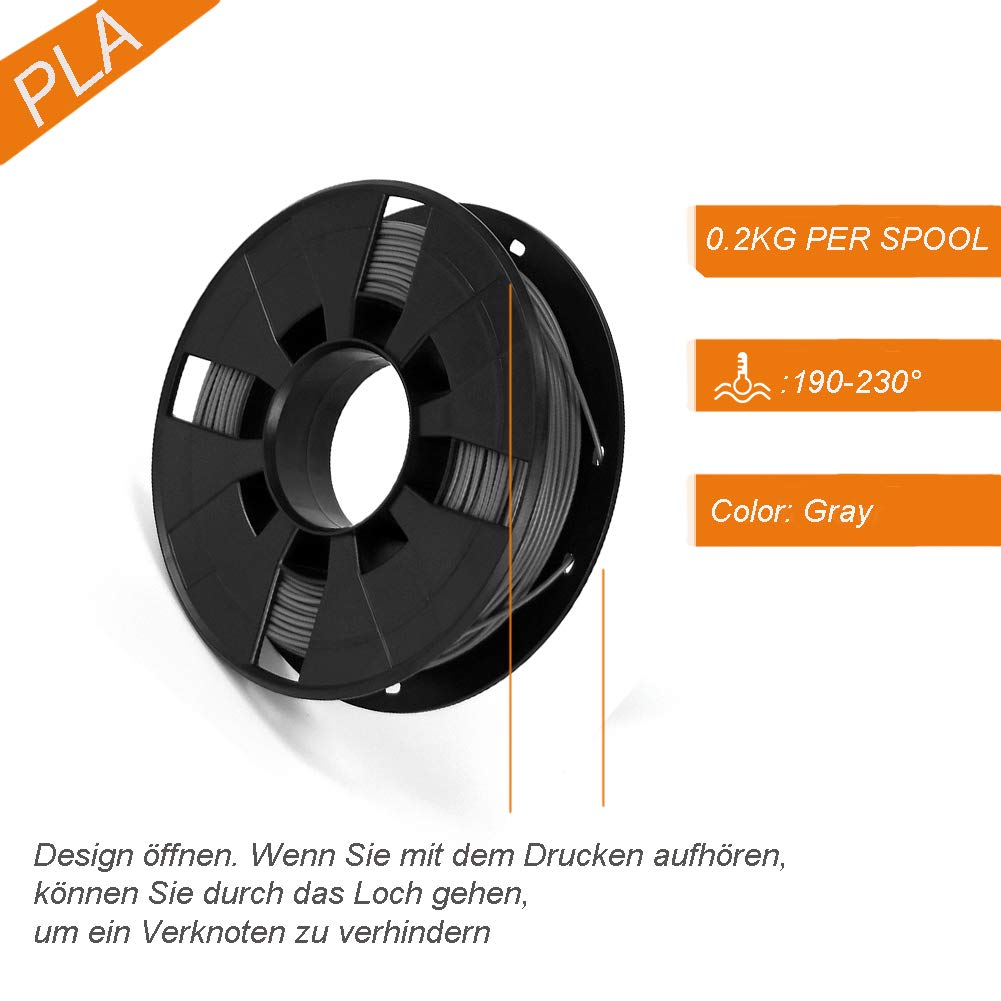0.2kg Usongshine ABS bobina de 1 kg para impresora 3D 1 Gradient precisi/ón de medida +//- 0,03 mm Filamento PLA de 1,75 mm