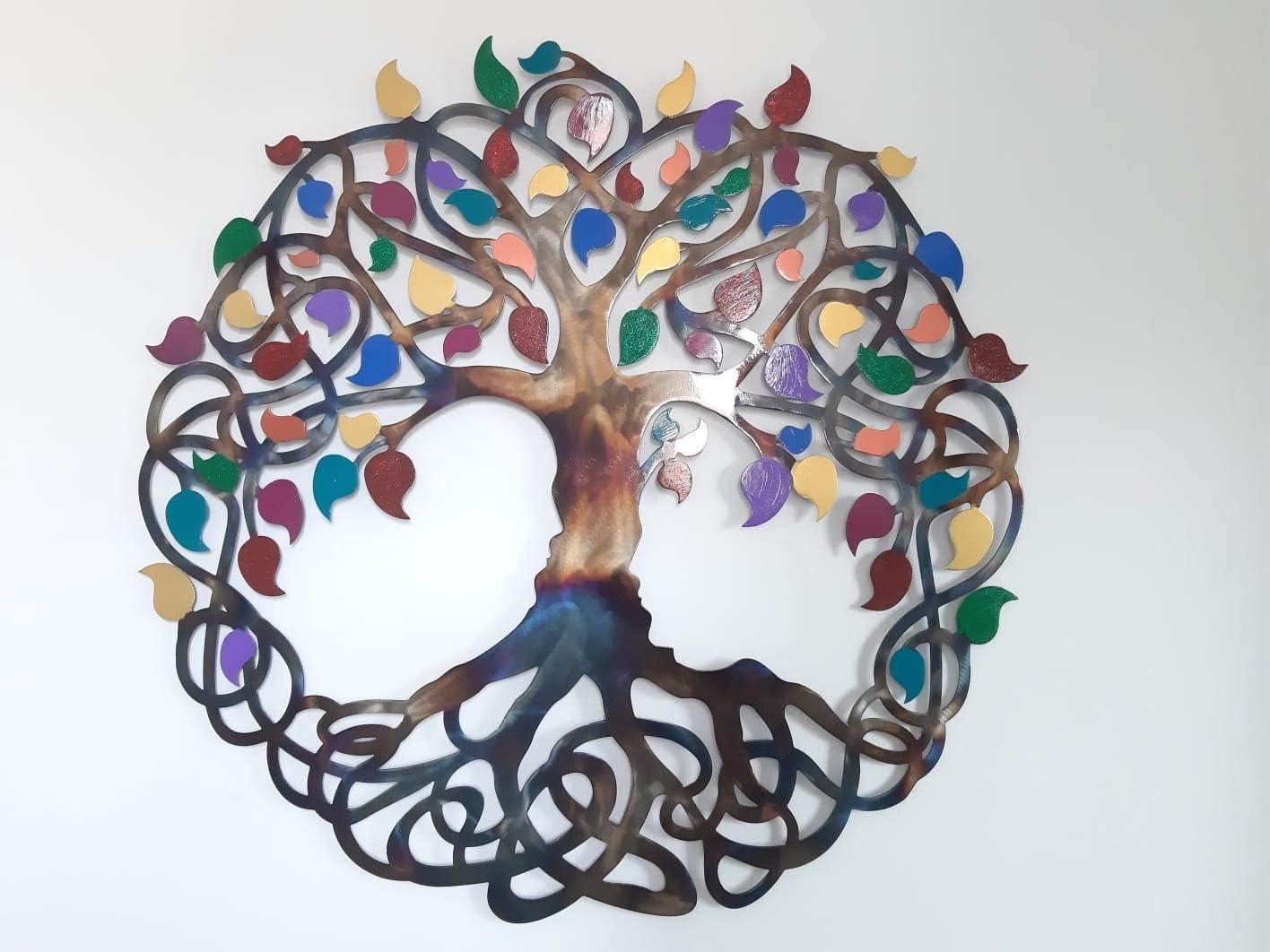 Tree Of Life Metal Art Wall Decor