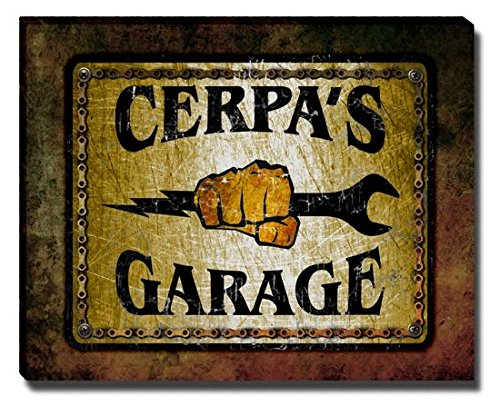 cerpas-garage-stretched-canvas-print