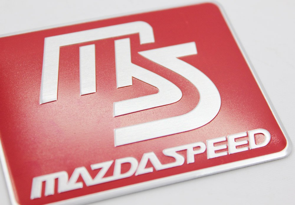 Red Mazdaspeed Metal Side Rear Decal Emblem Badge Sticker For Mazda MS speed