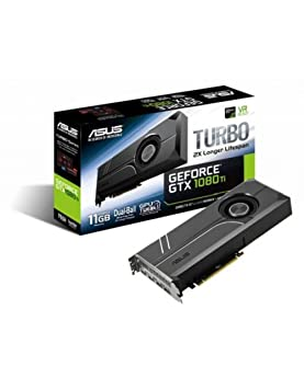 ASUS TURBO-GTX1080TI-11G - Tarjeta gráfica (11 GB de GDDR5, 1480 MHz, PCI Express 3.0 chipset, NVIDIA GeForce, para Gaming en 4K) Color Negro