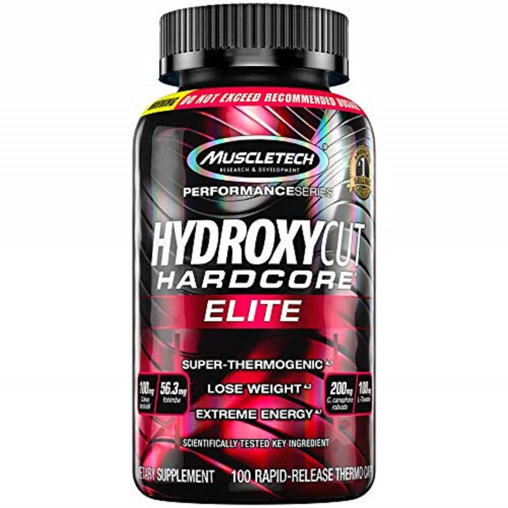 Hydroxycut Hardcore Elite Weight Loss Supplement, Designed for Hardcore Weight Loss, Energy & Enhanced Focus, 50 Servings (100 Pills)