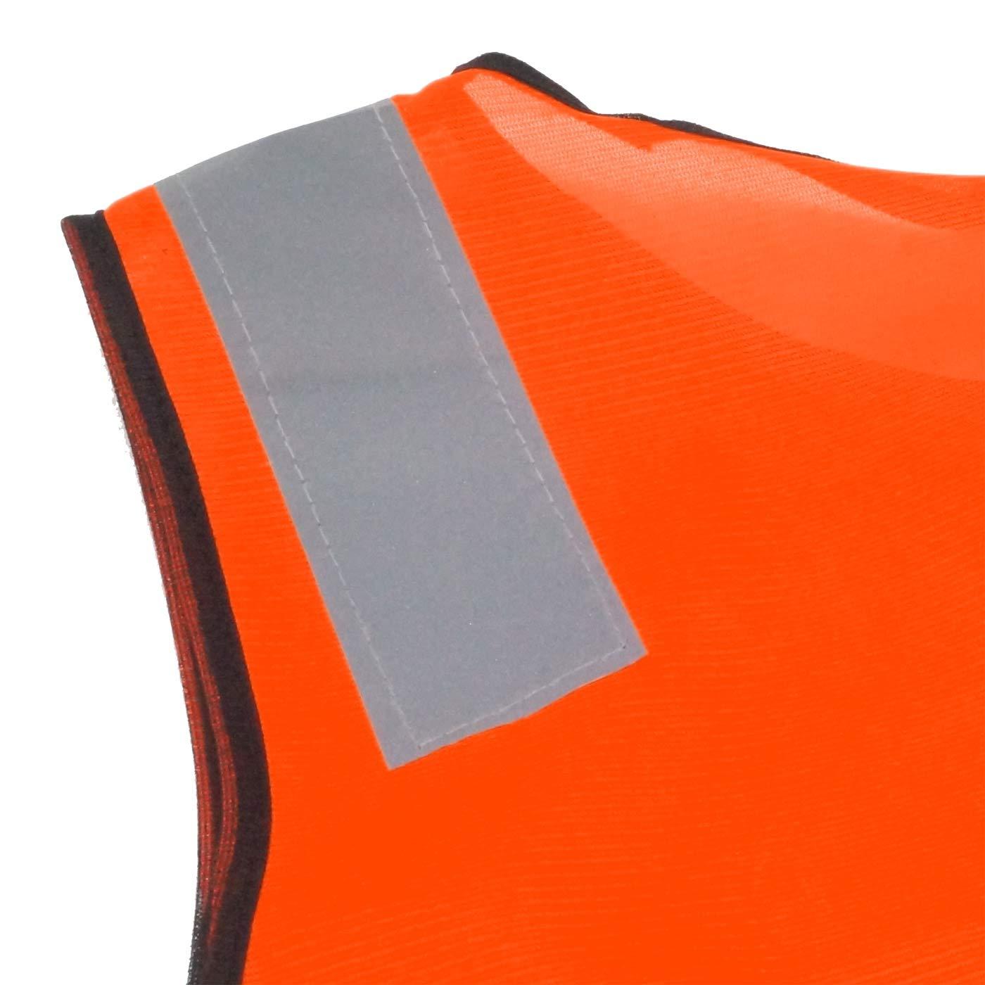 AIEOE 15 Pi/èces Gilet R/éfl/échissant Enfant sans Manches Veste Haute Visibilit/é Gilet de S/écurit/é /Él/ève Fille Gar/çon V/élo Jogging Voyage Activit/é Fluo Orange