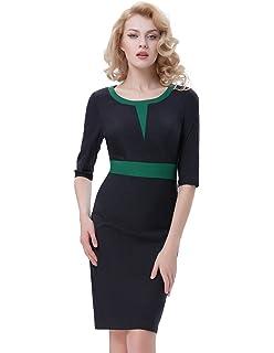 36cf9d915 Belle Poque Vestido Lápiz de Fiesta Vestido Bodycon de Cóctel para Mujer  Delgado Vintage