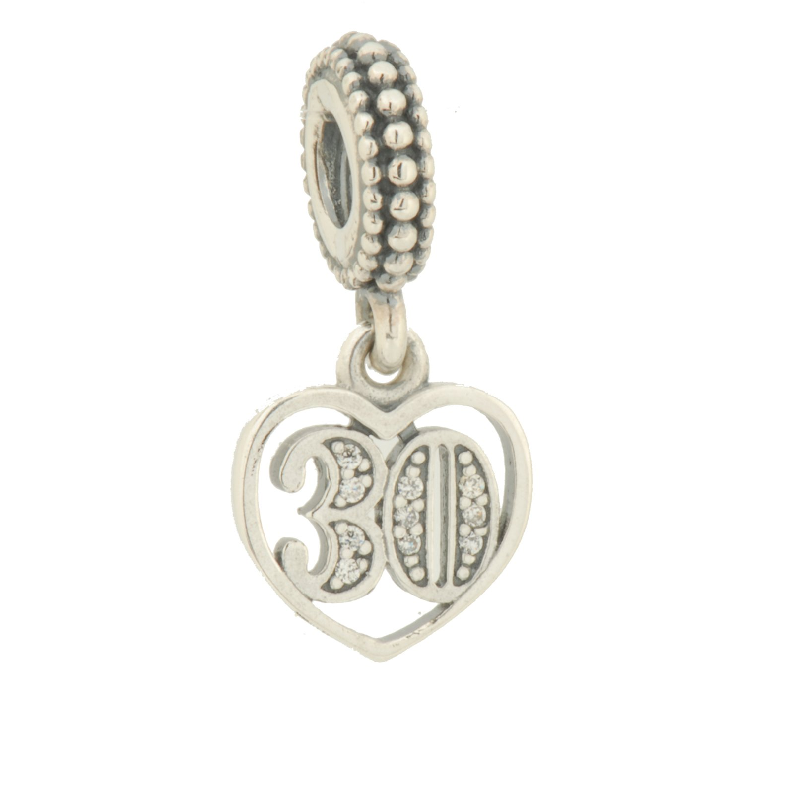 Pandora 791287cz 30 Years of Love Charm