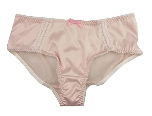 Ladies Satin Soft Pink Briefs Lace details Rose Knickers UK 8 s153 ... 7a2e7e5bef