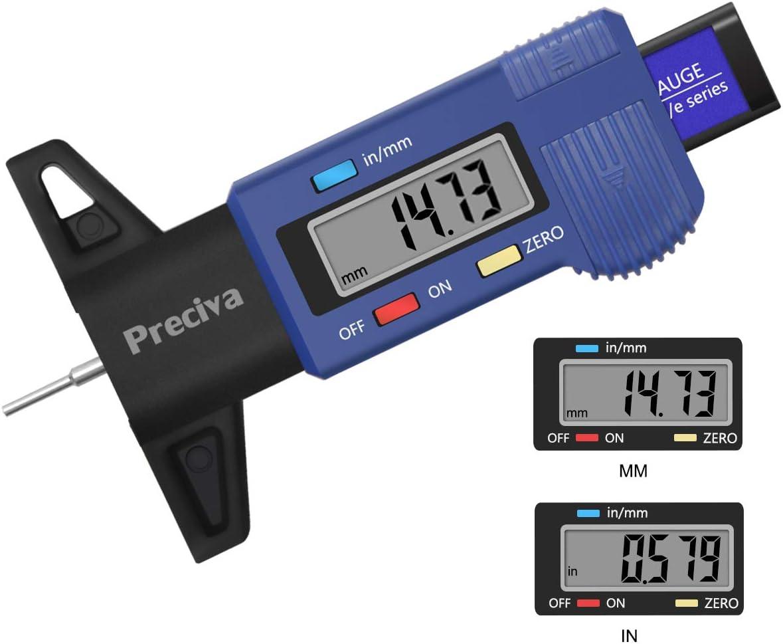 Tire Tread Depth Gauge Preciva LCD Digital Tire Tread Depth Gauge Tool with I...