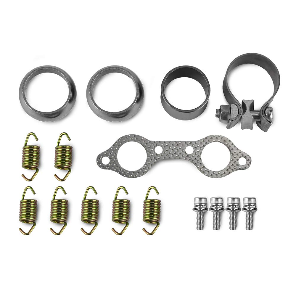 Deborah Daniel - UTV Exhaust Muffler Repair Kit for Polaris RZR 800 4X4 EFI EPS RZG LTD INTL WALKER EVANS POWERSTEERING 2008 2009 2010 2011 by Deborah Daniel