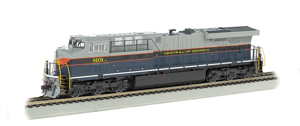 Bachmann GE ES44AC DCC Sound Value Equipped Diesel Locomotive - CENTRAL OF GEORGIA - HO Scale