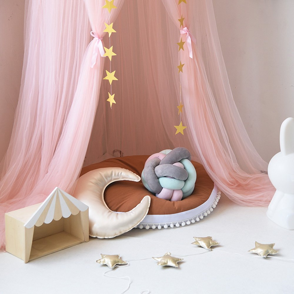 Pink Hoomall Mosquito Bar Children Room Decoration Kids Bed Canopy Mosquito Net Indoor Outdoor Playing Height 240cm