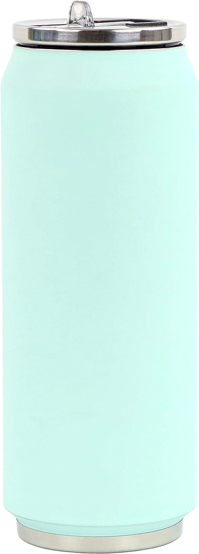 Menthe Claire YOKO DESIGN 1710 CANETTE Isotherme 500 ML Soft Mint 19,5 cm Acier INOX