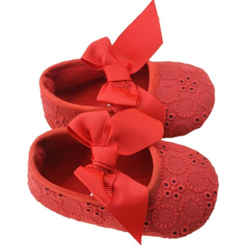 FORESTIME/_baby shoes FORESTIME Infant Baby Girls Cotton Ribbon Bowknot Soft Bottom Flower Prewalker