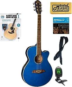 Oscar Schmidt OG8CETBL - Guitarra eléctrica acústica