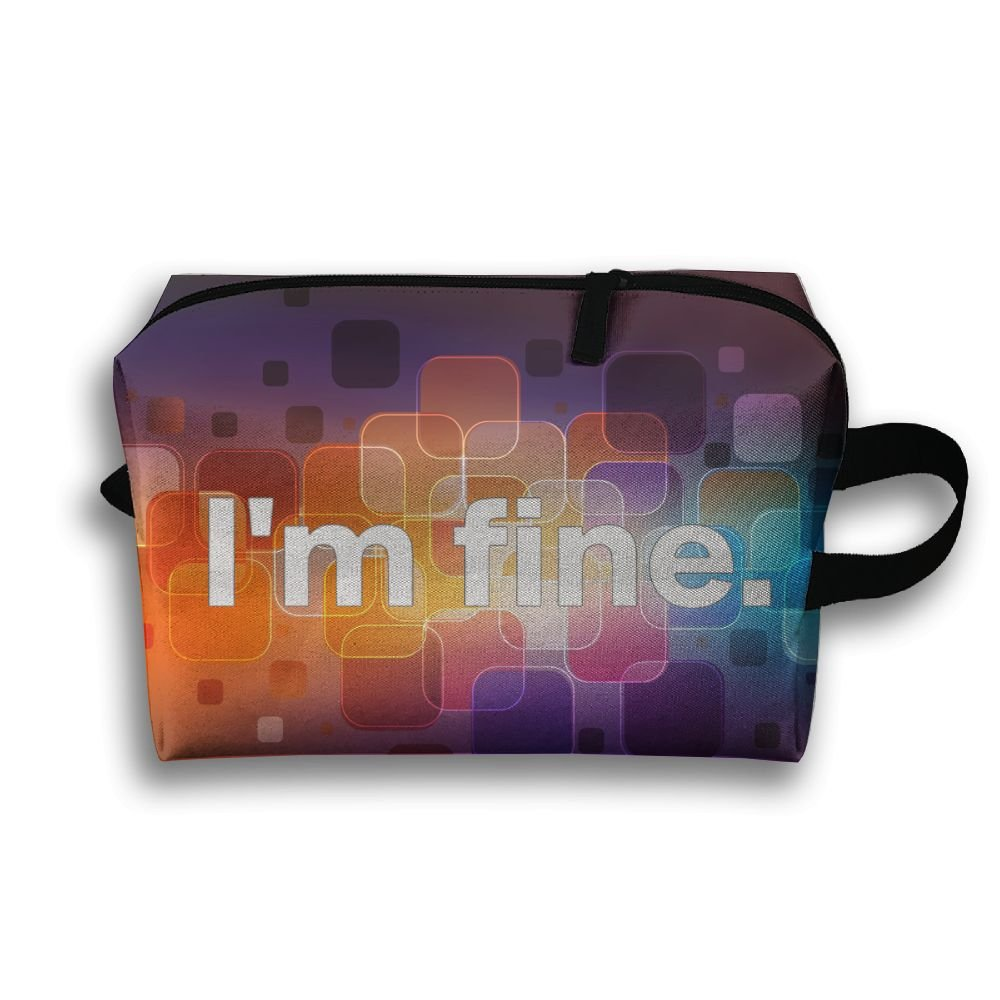 I'm Fine Travel Bag Multifunction Portable Toiletry Bag Organizer Storage