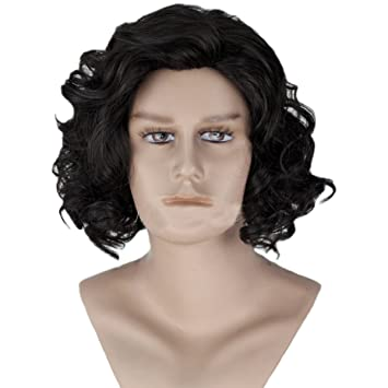Halloween Costume Ideas For Girls With Short Hair.Amazon Com Angelaicos Men S Curly Fluffy Cool Nautral Looking