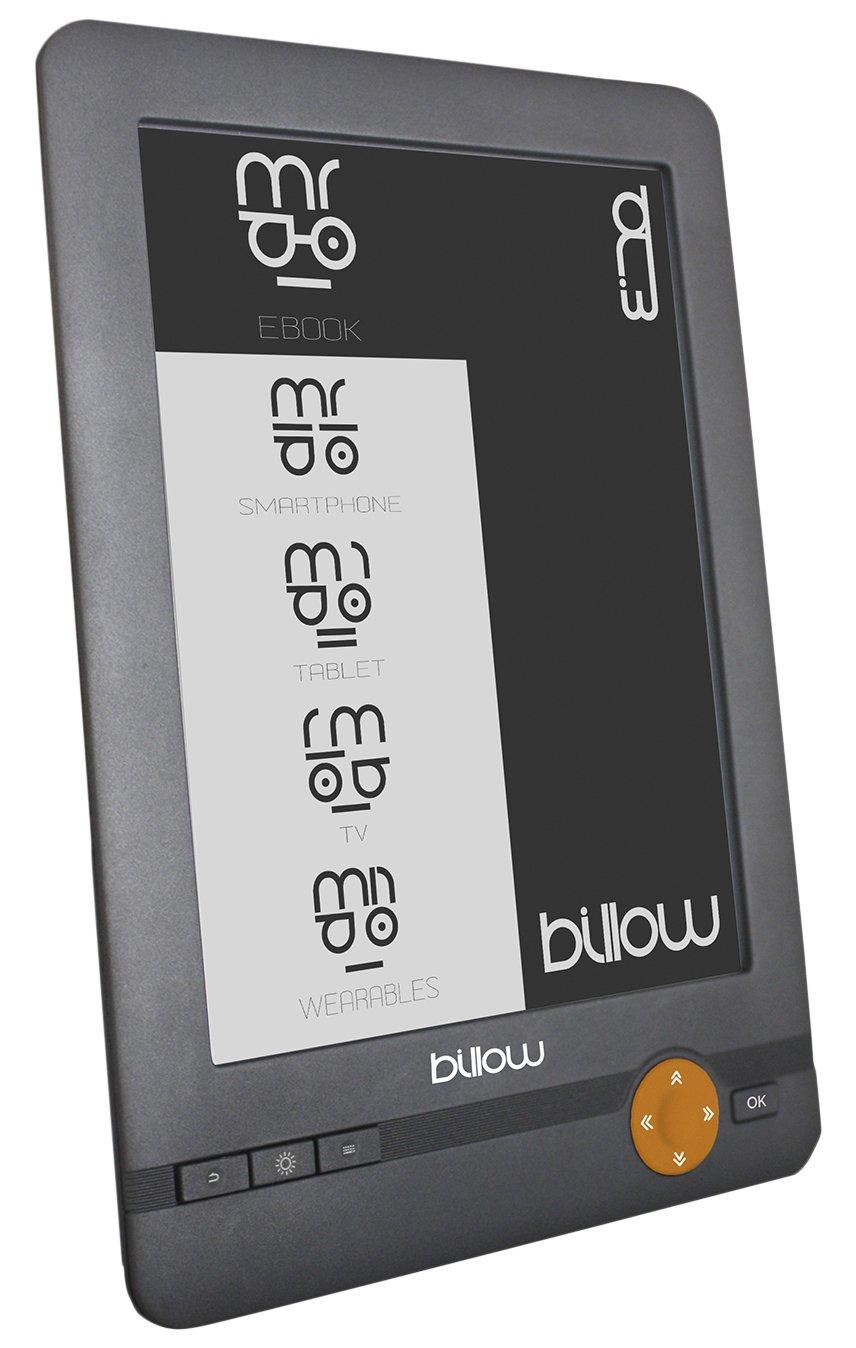Billow E03E lectore de e-book - E-Reader (E Ink, 800 x 600 Pixeles, DjVu, EPUB DRM, FB2, MOBI, PDF, RTF, TXT, BMP, GIF, JPG, No compatible, MicroSD (TransFlash))