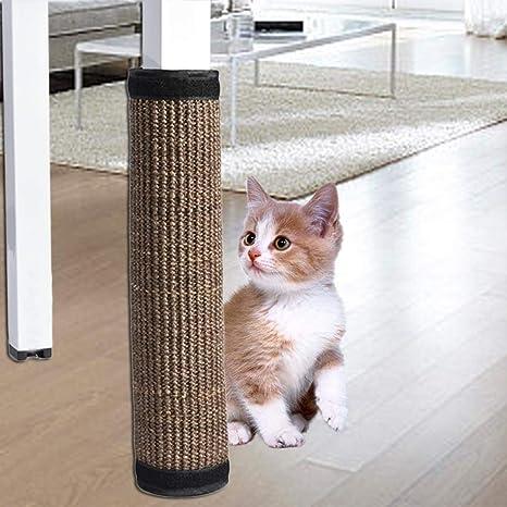 Arvin87Lyly Rascador de Gato de Esquina de sisal, Arbol Poste para Arañar sofá Tablero de