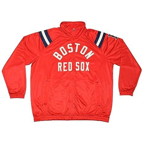 Big & Tall Bos rojo Sox Mens atlético con cremallera Cálido ...