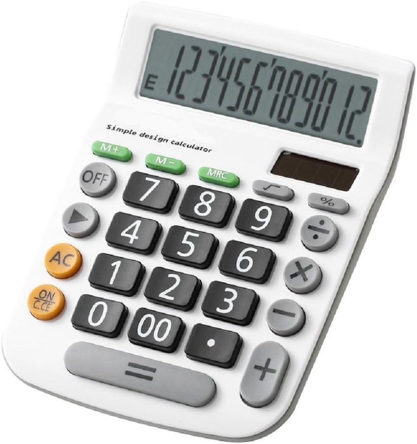 Zamac électronique calculatrice de bureau avec écran 12chiffres batterie ou alimentation solaire calculatrice de bureau