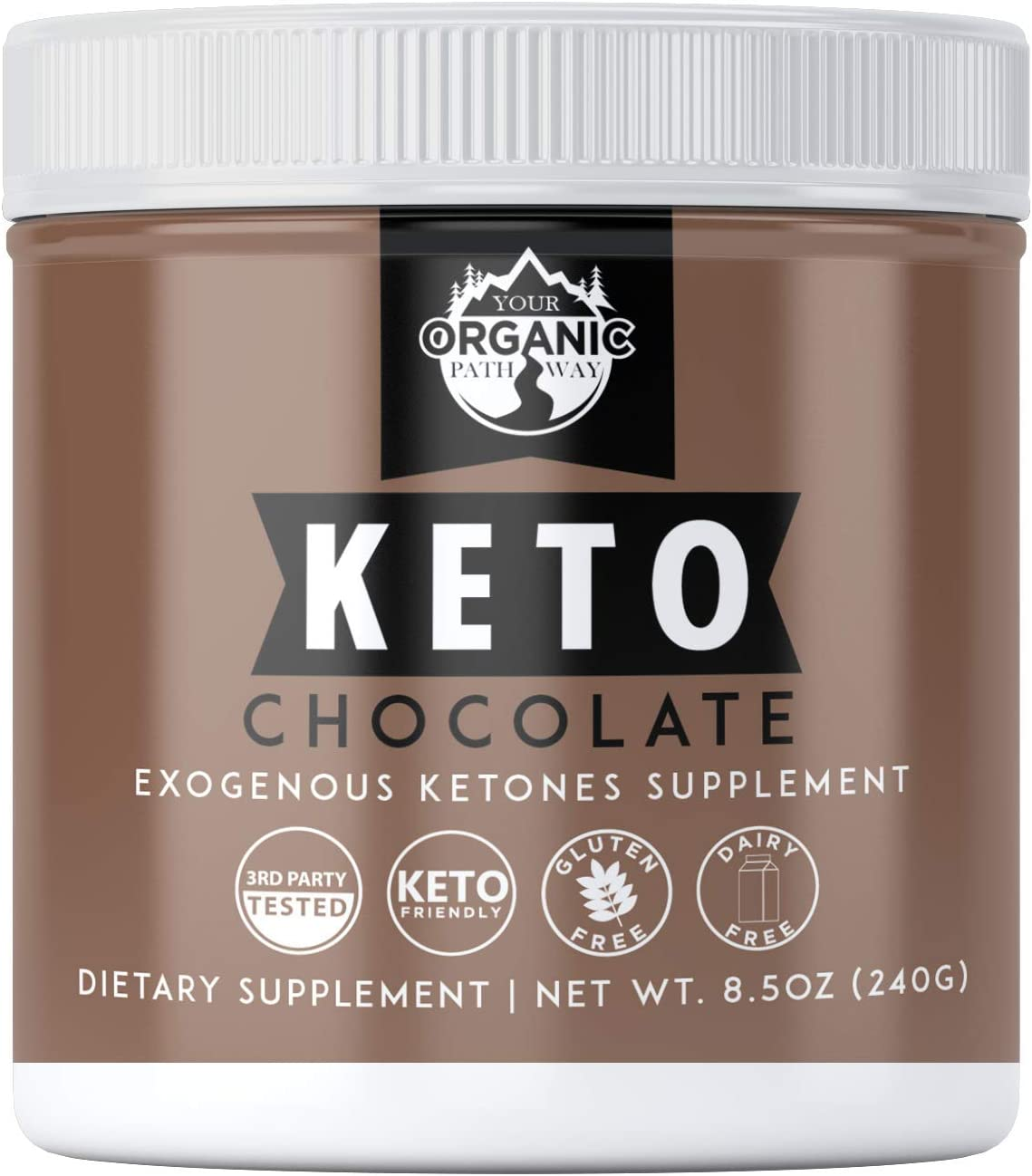 Your Organic Pathway Exogenous Ketones Base BHB Salts Supplement, Keto Chocolate Powder for Keto Diet, Weight Loss Energy Support- Beta-Hydroxybutyrate for Ketosis Ketone Boost