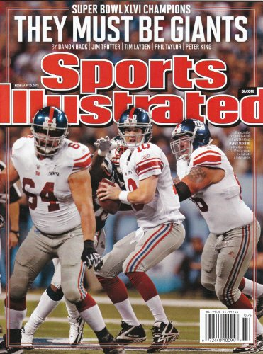 New York NY Giants Super Bowl XLVI Champions 2/13/12 Sports Illustrated Weekly Eli Manning Super Bowl Cover NM NL