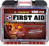 Be Smart Get Prepared 100 Piece First Aid Kit, Exceeds OSHA...
