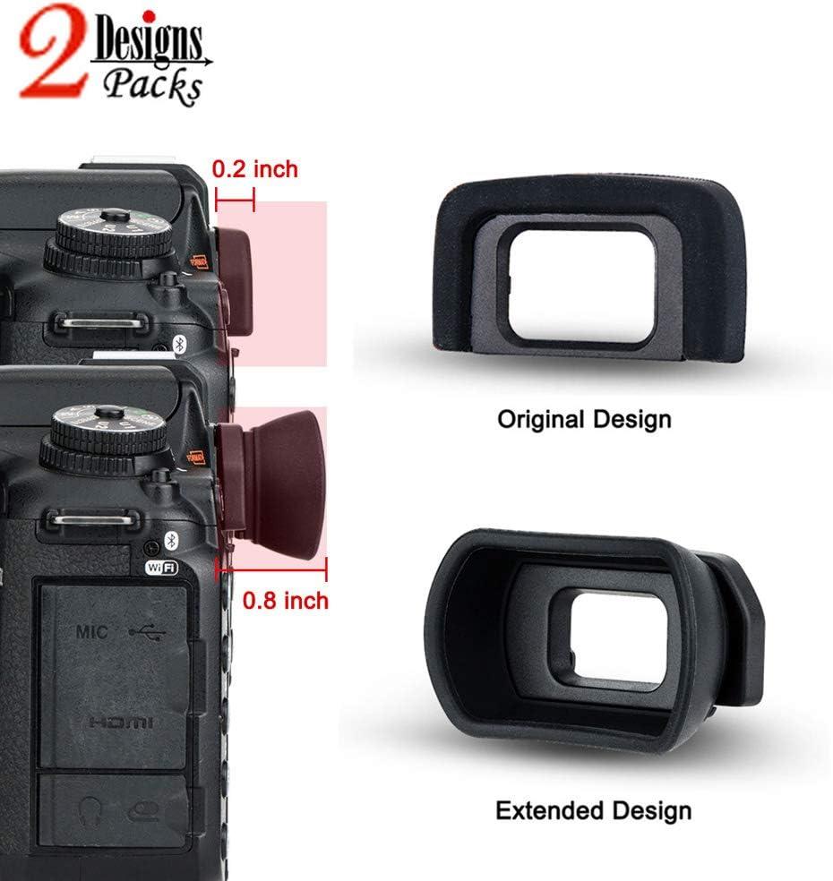 2 Types Eyecup Eyepiece Eyeshade for Nikon D5600 D5500 D5300 D5200 D5100 D5000 D3500 D3400 D3300 D3200 D3100 D3000 Viewfinder Replaces Nikon DK-25 Eye Cup -2 Packs