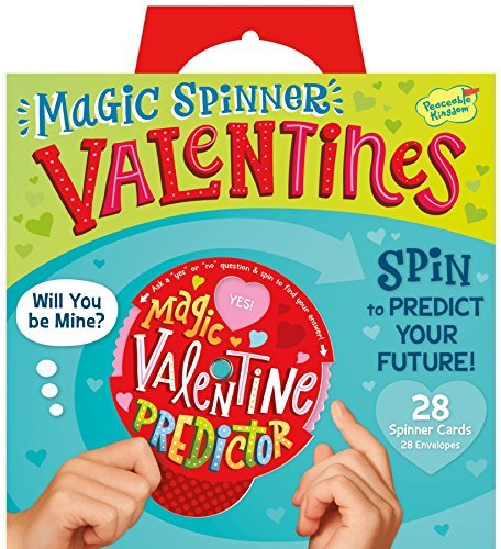 Peaceable Kingdom Magic Spinner Fortune Teller 28 Card Super Valentines Pack