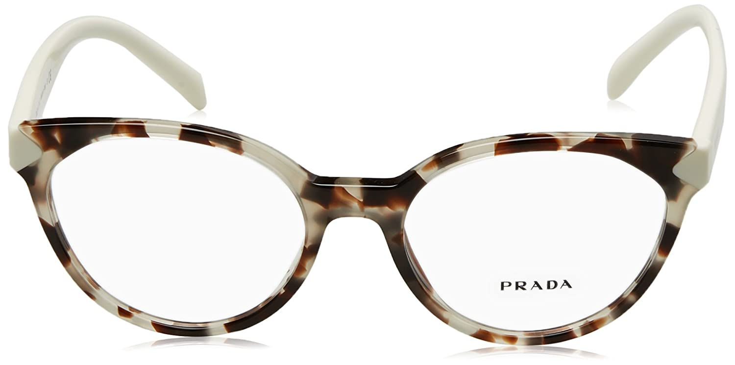 332f7592dfc Amazon.com  Prada PR01TV Eyeglass Frames UAO1O1-53 - Spotted Opal Brown  PR01TV-UAO1O1-53  Clothing