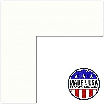 Amazon.com: 18x24 Polar White / Porcelain Custom Mat for Picture ...