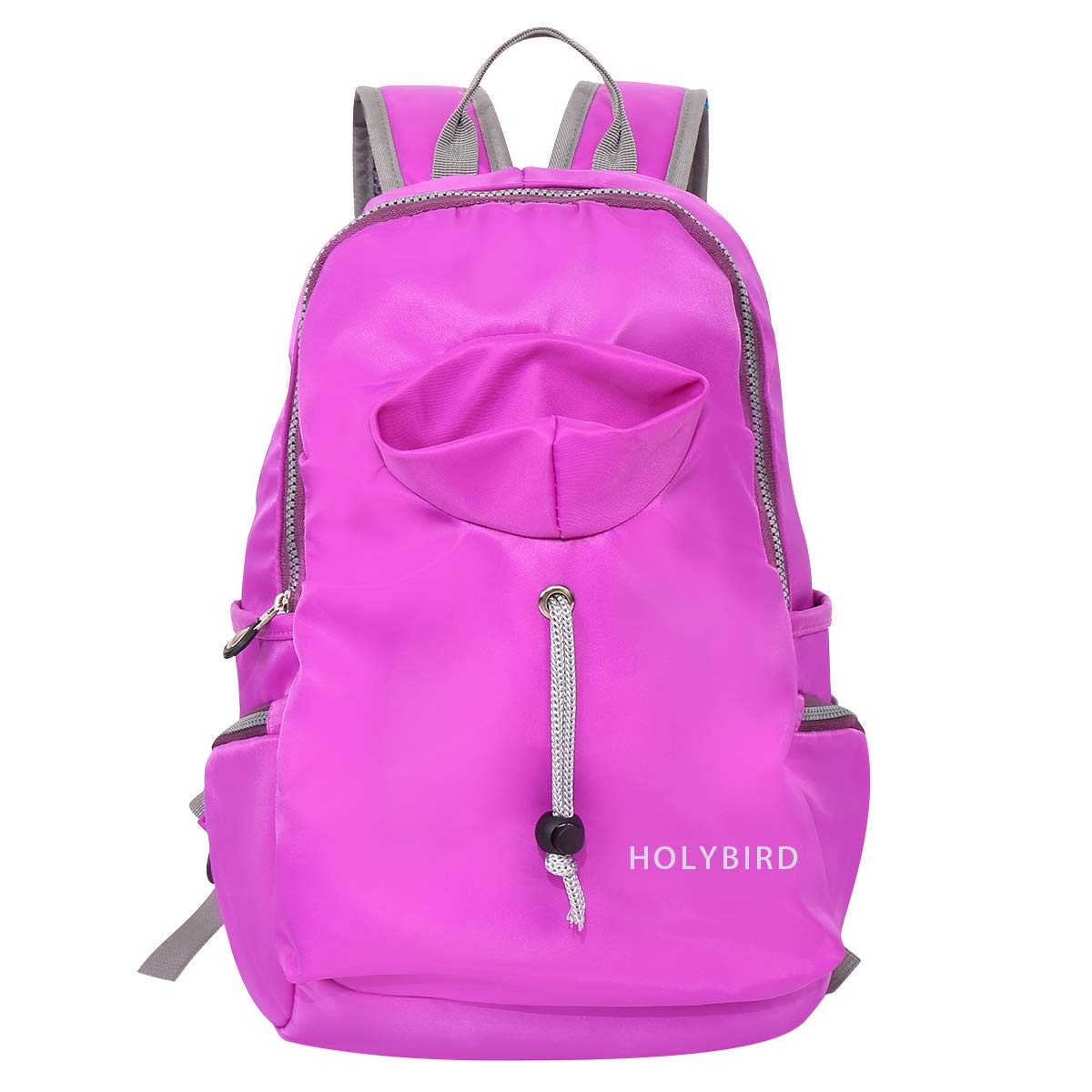 pink red HOLYBIRD Waterproof Backpack PU Leather Mini Women Purse for School Shopping Dating
