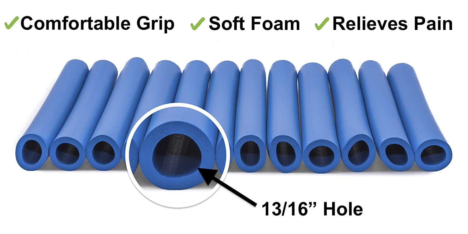 Amazon.com: Dexterity Aid - Closed Cell Foam Tube for Grip Support - Pack of 12 (1/4 inch): Health & Personal Care