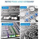 AIURTECHNIC Mechanical Keyboard Black Switch Axis USB Typewriter Retro Steampunk 104keys Keyboard with White LED Backlit… 7