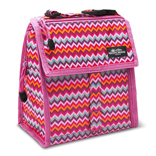 pacific-breeze-foldable-lunch-bag-pink-zigzag