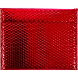 Ship Now Supply SNGBM1311R Glamour Bubble Mailers, 13 3/4'' x 11'', 13.75'' width, 11'' Length, Red (Pack of 48)