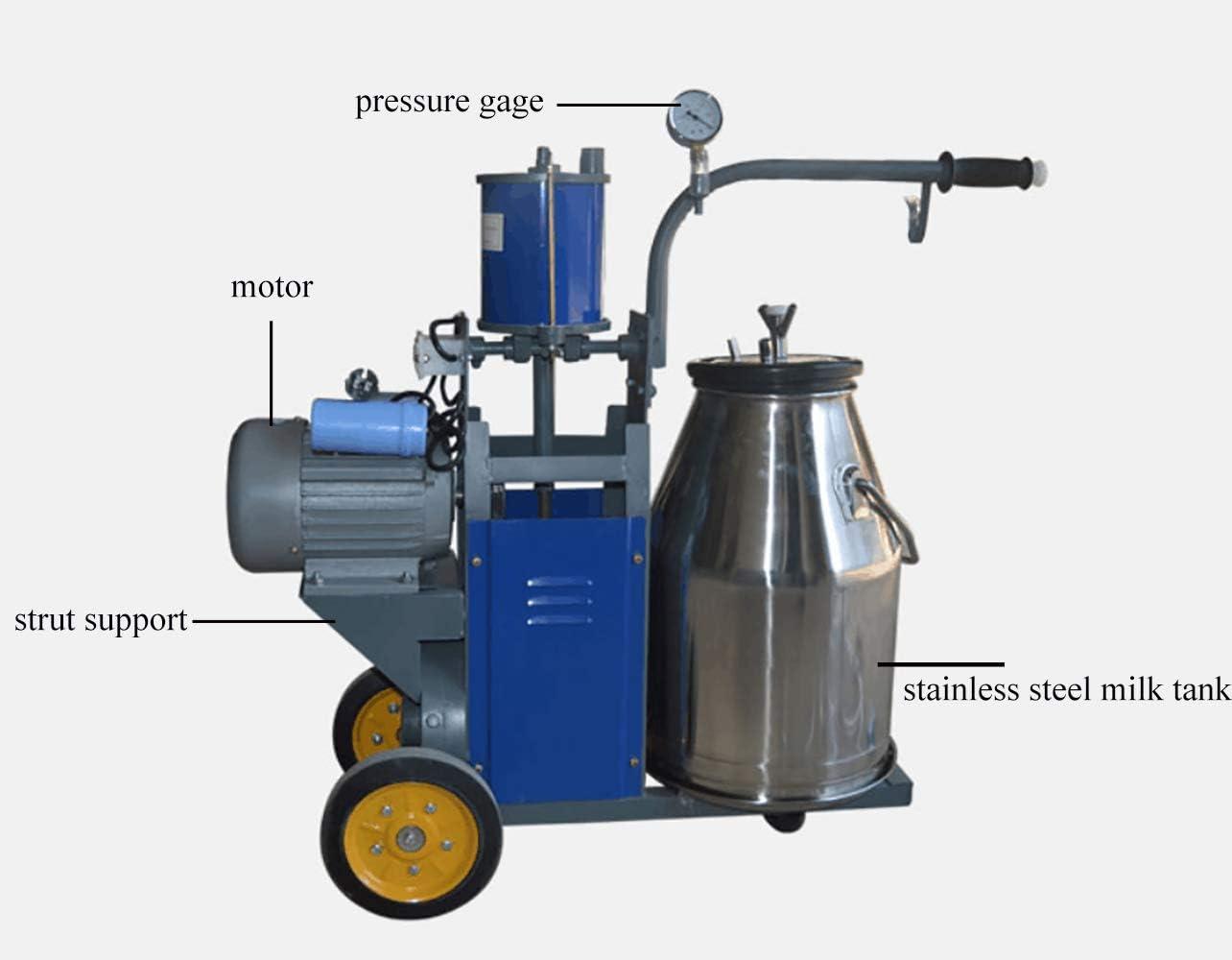 for Goat, 110V JIAWANSHUN Milker Machine Electric Milking Machine 25L Single Bucket Single Handle for Farm /& Household Cow and Goat Milking Machine 110v//220v