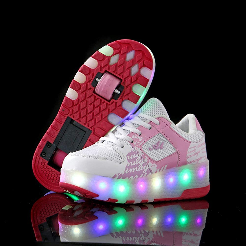 WYEING. LED con Luces Zapatillas De Deporte Luz Brillante 7 Colores Zapatos para Niños Parpadeante Niños Niños Chicas Navidad Regalo De Año Nuevo,Rojo,34: Amazon.es: Deportes y aire libre