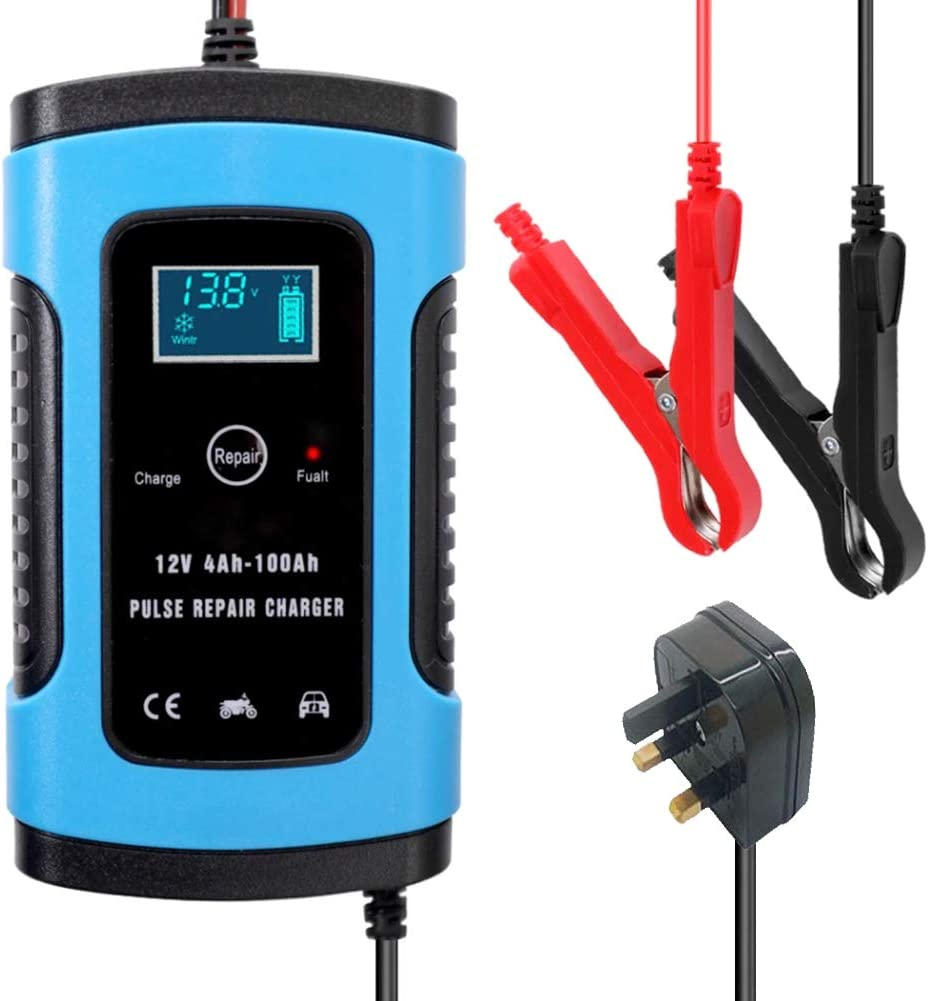 RV SUV Dengofng 12V 5A Automotive Smart Pulse Repair Charger with LCD Display Battery Maintainer for Car Boat Lawn Mower ATV Motorcycle RV SUV