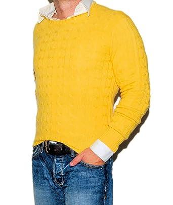 Ralph Lauren Polo Men Cashmere Cable Crewneck Pullover
