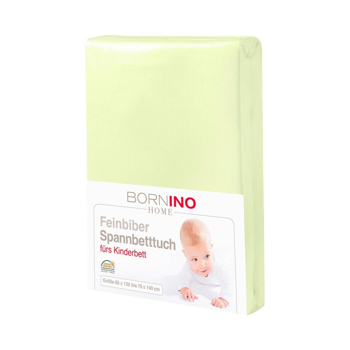 70x140 cm 100/% Baumwolle BORNINO HOME Feinbiber-Spannbetttuch//Spannbettt/ücher Spannbettlaken//Baumwoll-Laken Farbe: wei/ß